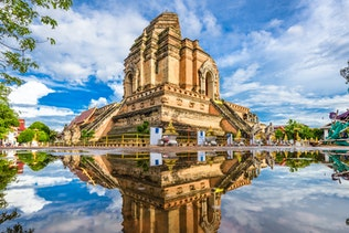 Chiang Mai, Thailand at Wat Chedi Laung.